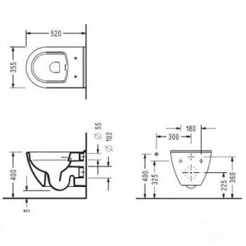 Унитаз подвесной Koller Pool ROUND ARC RA0520RW