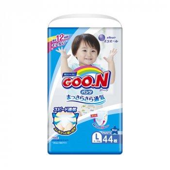 Японські підгузники-трусики GOO.N для хлопчиків 9-14 кг розмір L 44шт (843097)