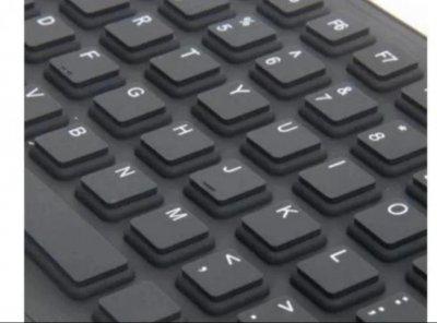 Гибкая клавиатура UKC X3 силиконовая водонепроницаемая USB подключение Черная (11734)