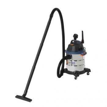 Пылесос Dexter для влажной и сухой уборки промышленный 1400 Вт 20 л Серебристый (11686)