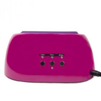 Лампа для сушки гель лака Beauty Nail K18 CCFL+LED 48W Малиновая, таймер и умная память, резиновая подставка и подвижный защитный экран (SO-4579 YS)