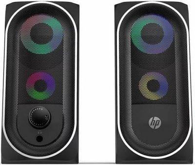 Акустична система HP 2.0 DHE-6001, 3,5 мм + USB, 6Вт, LED RGB (DHE-6001)