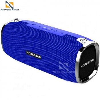 Бездротова колонка Hopestar A6 з вологозахисним корпусом - якісний підсилювач звуку - Портативна музична блютуз акустична система з функцією гучномовця + роз'єм під USB і AUX, Blue