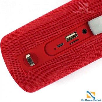 Портативна колонка Hopestar H39 музична з басами з потужним акумулятором - Бездротова акустична блютуз система - вологозахищена переносна з мікрофоном і гучномовцем, Червоний