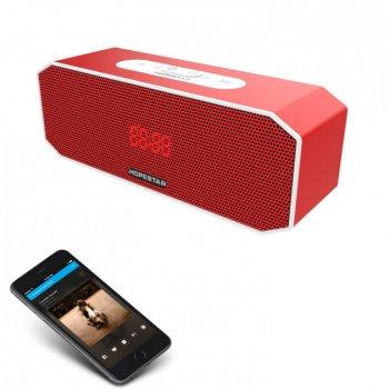 Портативна Колонка Hopestar P8 USB з вологозахистом IPX6 c Bluetooth і функцією гучного зв'язку – Переносна музична акустична система з хорошим звучанням та з функцією PowerBank, Red