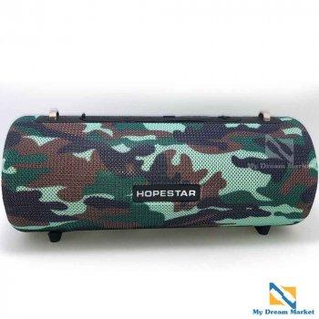 Портативна колонка Hopestar H39 акустична переносна водонепроникна + PowerBank - оригінал система з вбудованим сабвуфером і хорошим басом - потужна стерео з акумулятором, Камуфляж