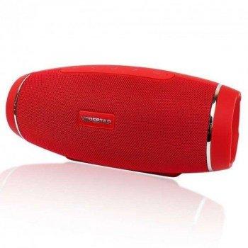 Блютуз колонка Hopestar H27 портативна - вологозахищена ХР6 бездротова з вбудованим сабвуфером - Портативна акустична система - об'ємний звук і потужний бас USB + micro SD, Red