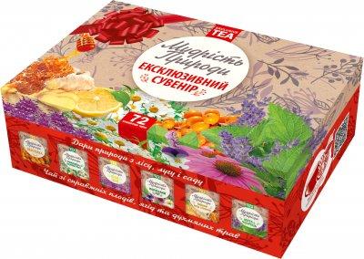Набор чая в пакетиках Мудрость Природы Эксклюзивный сувенир 6 видов по 12 шт 120 г (4820167092856)