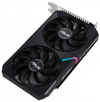 Asus PCI-Ex GeForce GTX 1650 Dual Mini OC Edition 4GB GDDR6 (128bit) (1410/12000) (DVI-D, HDMI, DisplayPort) (DUAL-GTX1650-O4GD6-MINI)