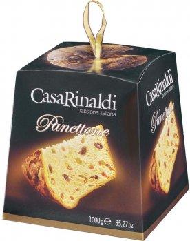 Кекс Casa Rinaldi Панеттоне с цукатами и изюмом 1000 г (8006165404457)