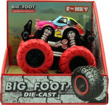 Машинка-внедорожник Funky Toys Тюнинг 4х4 трюковая 1:64 Красные колеса (FT61039)