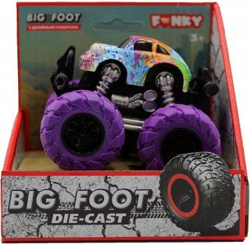 Машинка-внедорожник Funky Toys Тюнинг 4х4 трюковая 1:64 Фиолетовые колеса (FT61043)