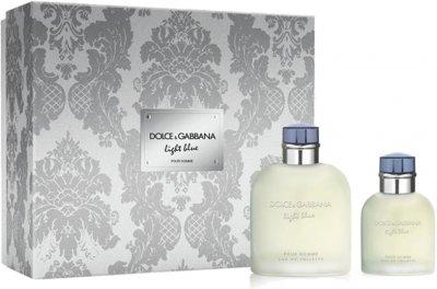 Набор для мужчин Dolce&Gabbana Light Blue Pour Homme Туалетная вода 125 мл + Туалетная вода 40 мл (3423478414556)