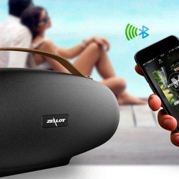 Бездротова Bluetooth колонка ZeaLot S27 38W 8000mAh AUX USB Чорна (S27)