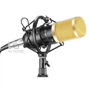 Студійний конденсаторний мікрофон для звукозапису Music D. J. M-800 – кращий бюджетний професійний студійний конденсаторний usb мікрофон для студійного запису голосу вокалу – Висока чутливість мікрофона