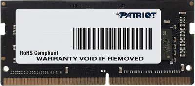 Оперативна пам'ять Patriot DDR4 SL 16GB CL19 SODIMM Black/Grey (PSD416G240081S)