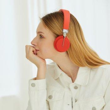 Бездротові навушники Fingertime P3 Wireless Bluetooth Headphones Set з вбудованим MP3-програвачем та FM-радіо модулем, Червоний