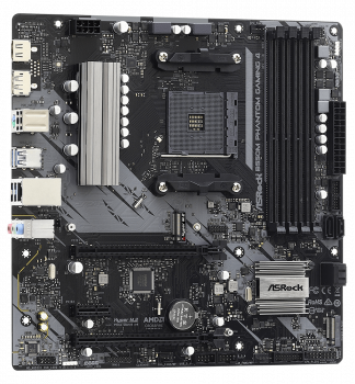 Материнська плата ASRock B550M Phantom Gaming 4 (sAM4, AMD B550, PCI-Ex16)