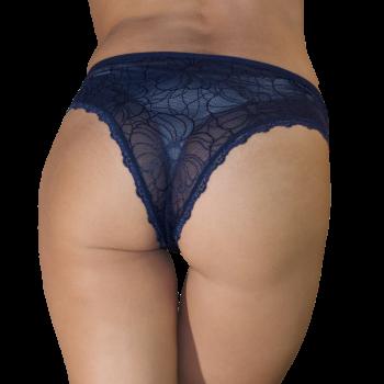 Трусики женские Бразилиана кружевные Nicoletta 91405-darkblue