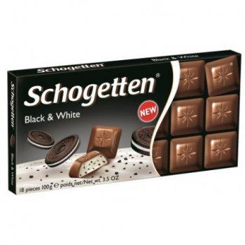 Шоколад Schogetten Black&White Чорне & Біле 100 г