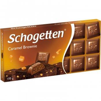Шоколад молочний Schogetten Caramel Brownie Карамель Брауні 100 г