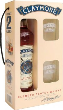 Виски Claymore 0.7 л 40% + 2 стакана (4820196540120)