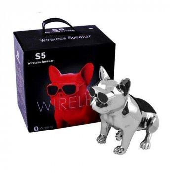 Bluetooth-колонка Aerobull DOG METALLIC S5, c функцією speakerphone срібна