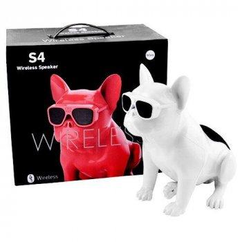 Bluetooth-колонка Aerobull BIG DOG S4, c функцією speakerphone, радіо Біла