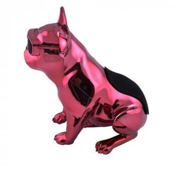 Bluetooth-колонка Aerobull BIG DOG METALLIC S4, c функцією speakerphone, радіо Рожева