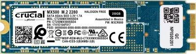 Накопичувач SSD 250GB Crucial MX500 M. 2 SATAIII TLC 3D NAND (CT250MX500SSD4)