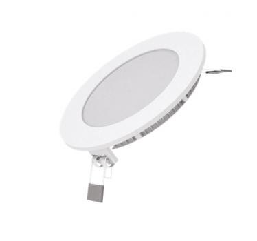 Вбудований світильник Гаусса ультратонкий круглий IP20 6W,120х22, Ø105, 4100K 400лм 1/20