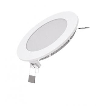 Вбудований світильник Гаусса ультратонкий круглий IP20 6W,120х22, Ø105, 2700K 360лм 1/20