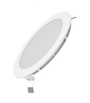 Вбудований світильник Гаусса ультратонкий круглий IP20 12W,170х22, Ø155, 4100K 880лм 1/20