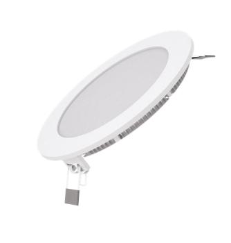 Вбудований світильник Гаусса ультратонкий круглий IP20 9W, 145х22, Ø130, 2700K 610лм 1/20