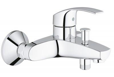 Змішувач для ванни GROHE Eurosmart 33300002 з душовим гарнітуром New Tempesta 27853001