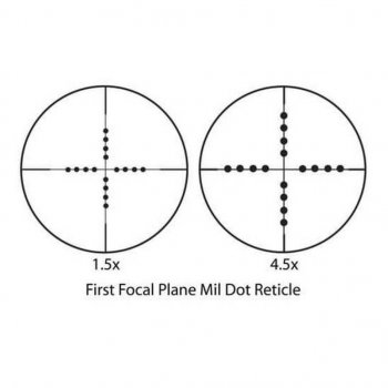 Приціл Barska Tactical 1.5-4.5x20 FFP (Mil-Dot) + Rings (925765)