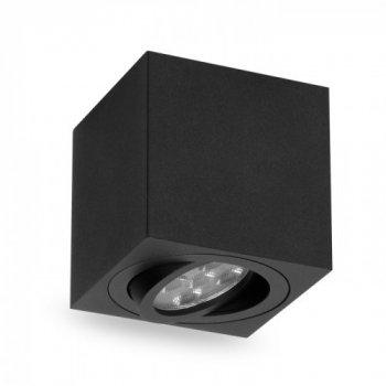 Накладної поворотний світильник квадрат Feron ML303 під лампу MR16 GU10 чорний 80*80*90мм
