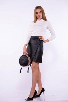 Жіноча спідниця з екошкіри Time of Style 176P001 Чорний