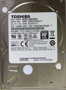 """Жорсткий диск для ноутбука 2.5"""" 200GB TOSHIBA (MQ01AAD020C)"""