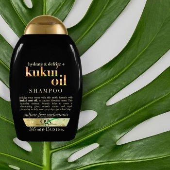 Шампунь OGX Kukui Oil Зволоження та гладкість з олією гавайського горіха 385 мл (0022796974211)