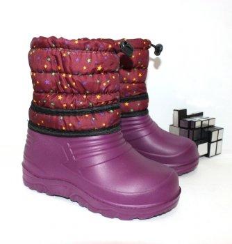 Сапоги для девочки эва Favorite shoes 004 bordo бордовый