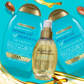 Шампунь OGX Argan oil of Morocco Восстанавливающий с аргановым маслом 385 мл (0022796976116)