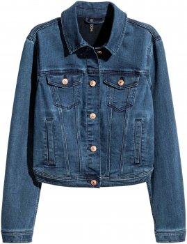 Куртка джинсова H&M 4780735 Темно-синя