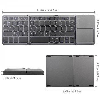 Беспроводная складная клавиатура с сенсорной панелью Sandy Gforse IQ – 75
