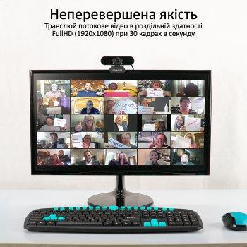 Веб-камера Promate ProCam-2 FullHD USB Black (procam-2.black)