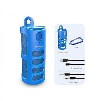 Бездротова Bluetooth колонка Zealot S8 Original з функцією Power Bank + зручний чохол кріплення з карабіном для носіння з собою і для велосипеда Синя