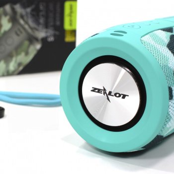 Бездротова Bluetooth колонка Zealot S32 Бірюзовий камуфляж