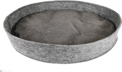 """Лежанка овальна з фетру c подушкою для собак і кішок Форт Нокс FX home """"Манеж"""" 85х65х15 см (2820000013279)"""