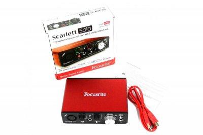 Аудіоінтерфейс 2 входи/2 виходи USB Focusrite SCARLETT SOLO