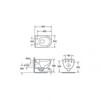 Унитаз подвесной DEVIT Project с сиденьем Soft Close дюропласт (3120147)